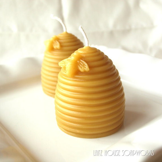 beeswax votives by Lake House Soap Works