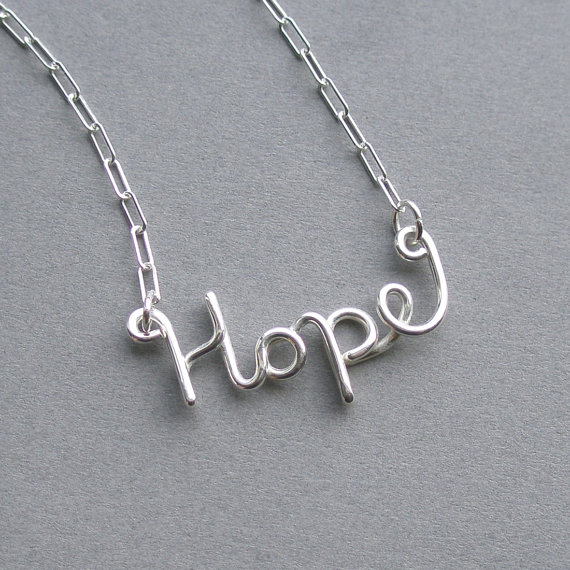 hope necklace by Piano Bench Designs