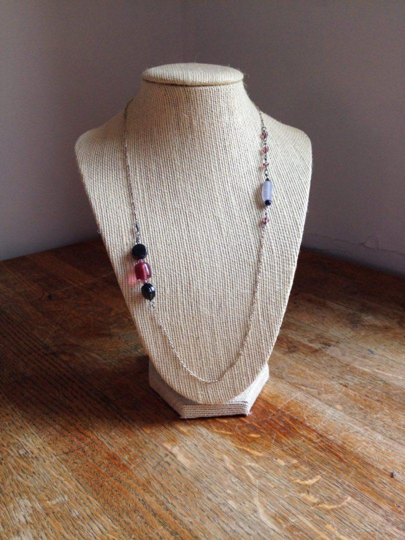Jennifer Garry Designs: asymmetrical necklace with vintage chain