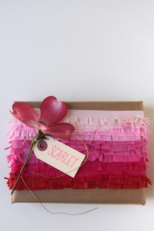 Gift wrap inspiration: fringe