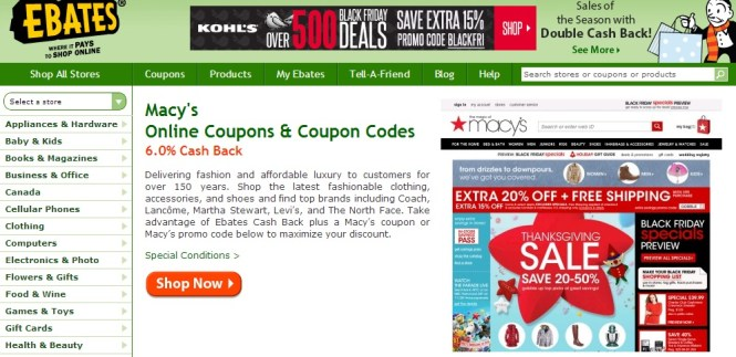 How to save money shopping online: ebates