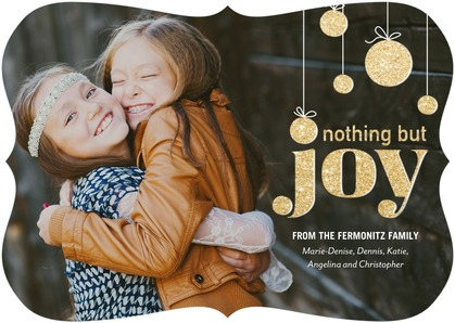 tiny prints holiday cards: nothing but joy