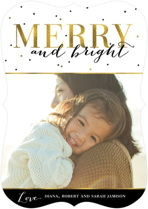 tiny prints holiday cards: polka merry and bright