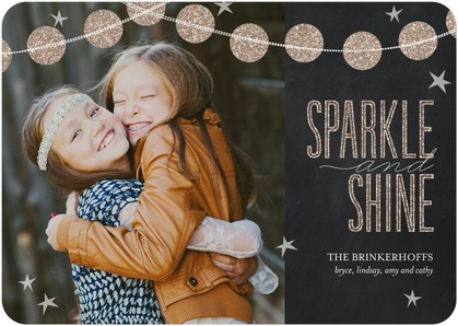 tiny prints holiday cards: sparkle and shine