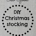 DIY Christmas stocking tutorial