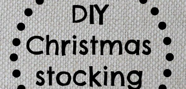 DIY Christmas stocking tutorial