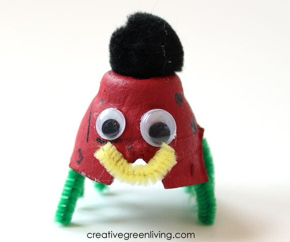 50+ indoor kids activities - recycled egg carton creatures
