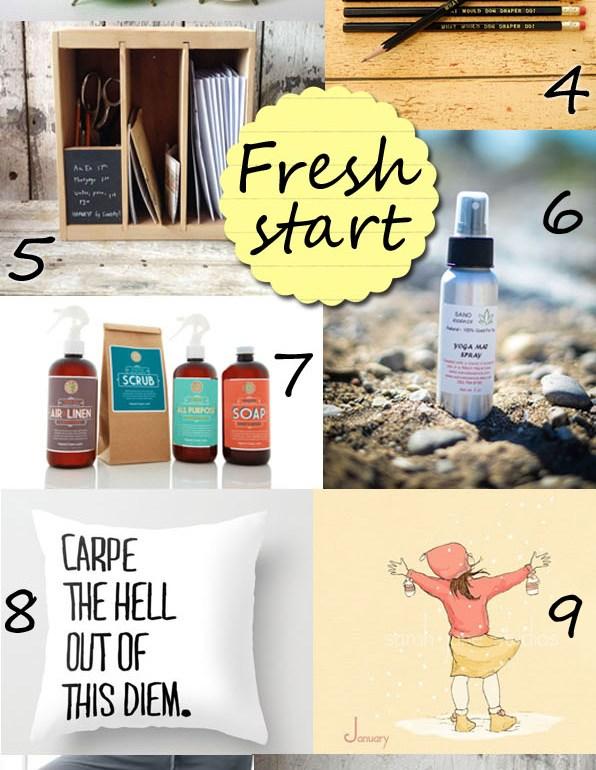 etsy finds: fresh start