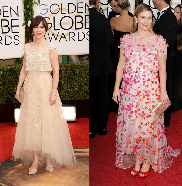 overdone golden globes gowns