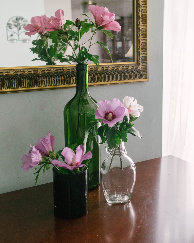 recycled bottle vases - simple DIY - eco-friendly project - eco friendly home