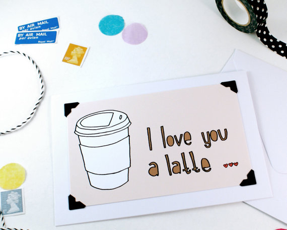 etsy finds: vivid please valentine's day card