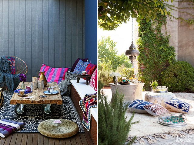 outdoor living inspiration: floor seating