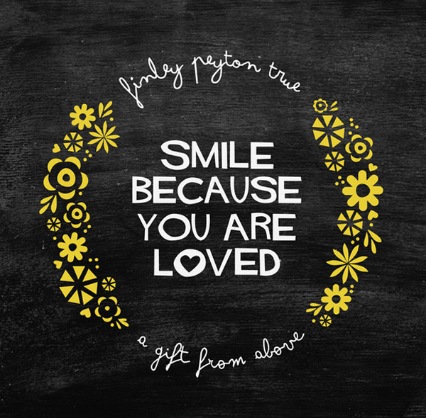 Minted word art: Smile