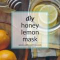 DIY honey lemon mask