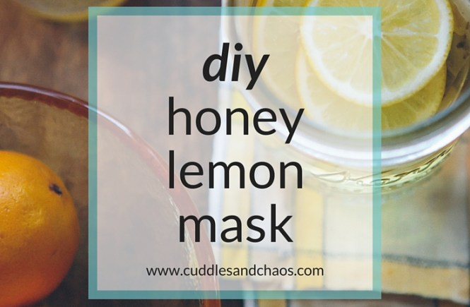 DIY honey lemon mask