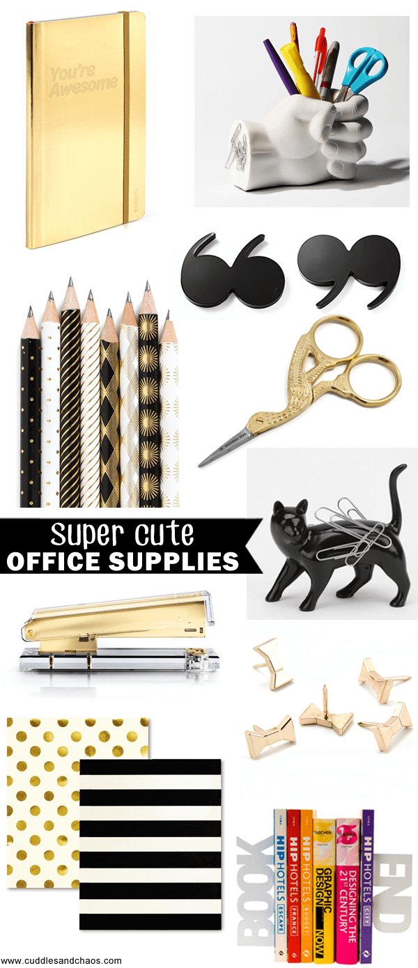 super cute office supplies
