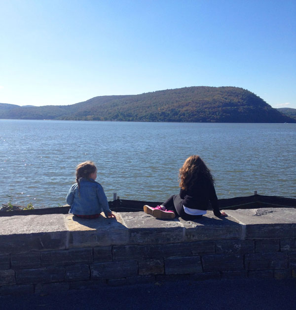 checking out the foliage at the Peekskill Riverfront