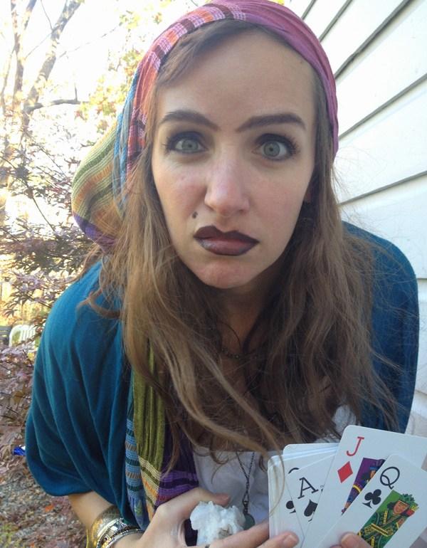 last minute costume  fortune teller makeup