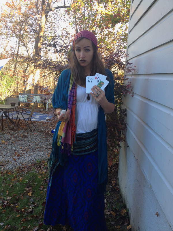 last minute costume | shop your closet: fortune teller