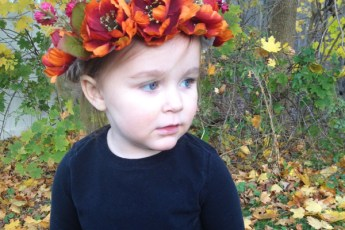 fall flower crown diy