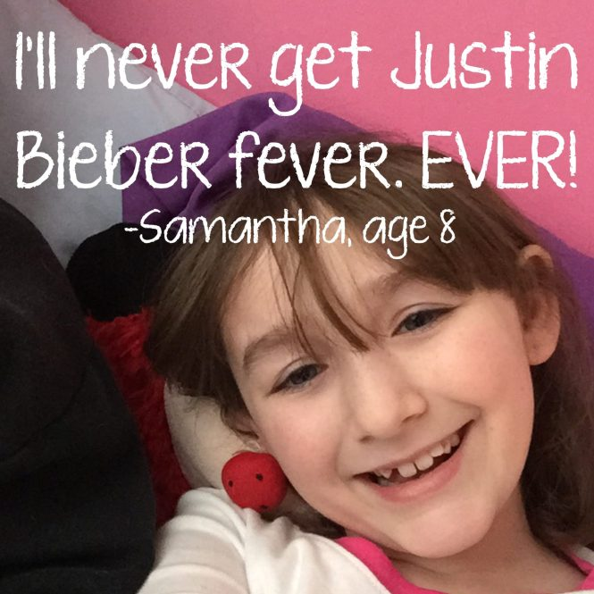 Things My Kids Said | Bieber fever