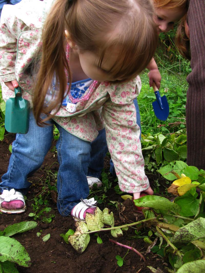 Earth Day kids activities - kids vegetable garden