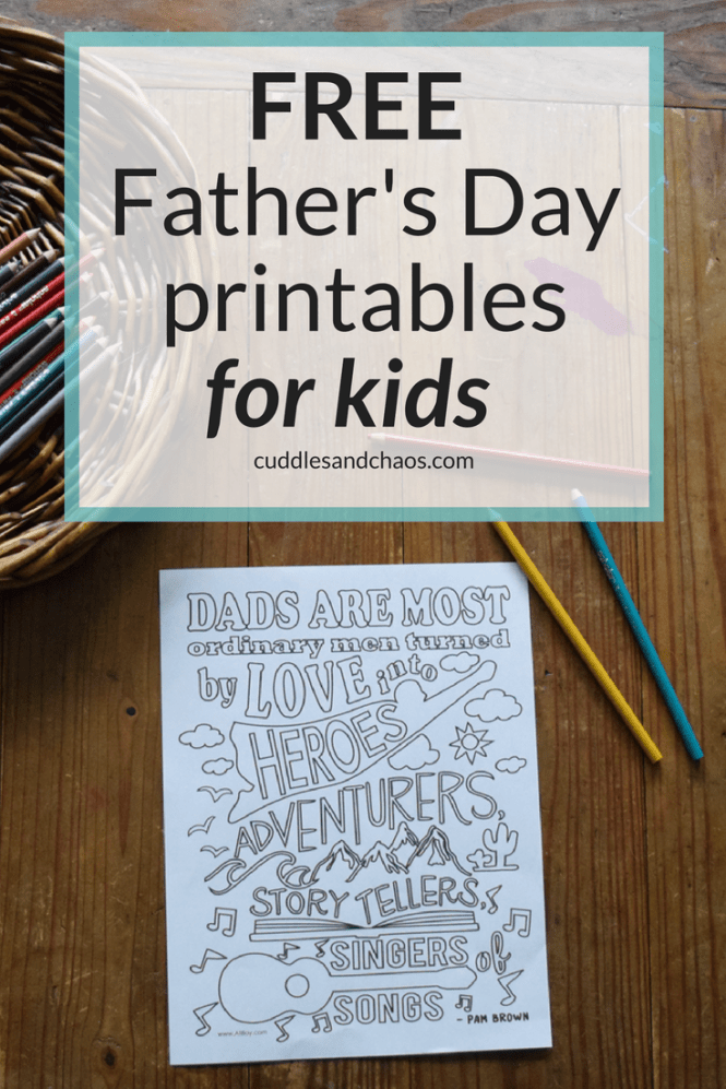 FREE Father's Day printable for kids - with DIY gift idea that even the littlest ones can make!