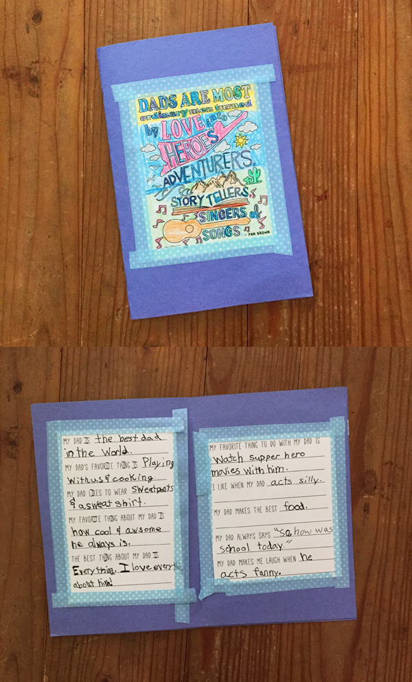 Father's Day DIY | kid-made dad book with free printable