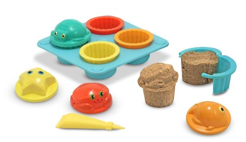 Pool and Beach Toys | Melissa and Doug sand cupcake set