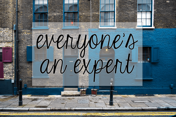 everyone's an expert | an essay on motherhood