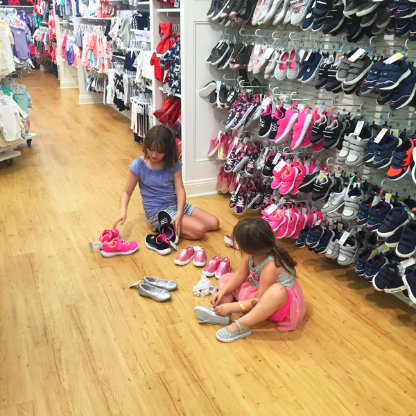 back to school shoe shopping with Carters