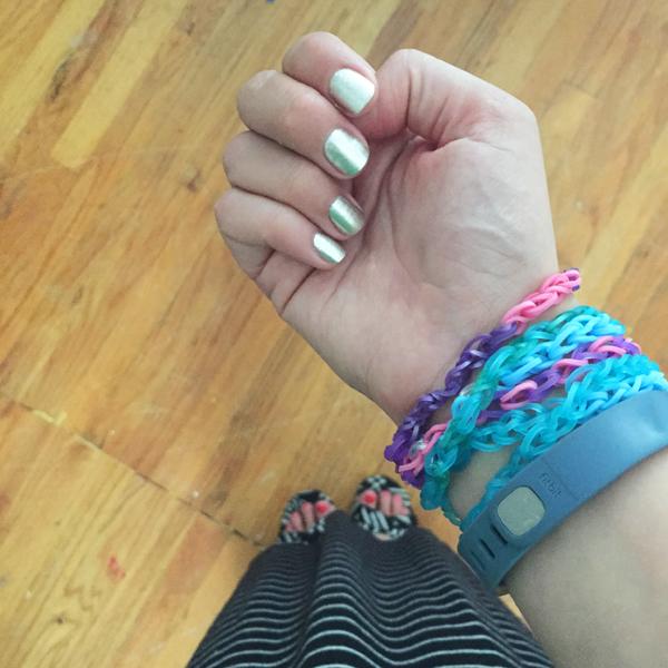 rainbow loom wrist