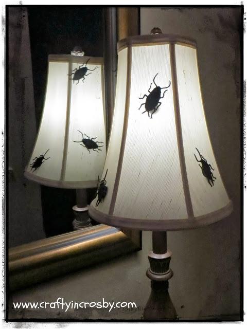 DIY Halloween decor   bug lamp