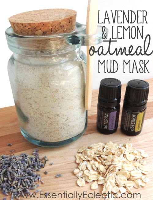 DIY skincare gifts | lavender and lemon oatmeal mud mask