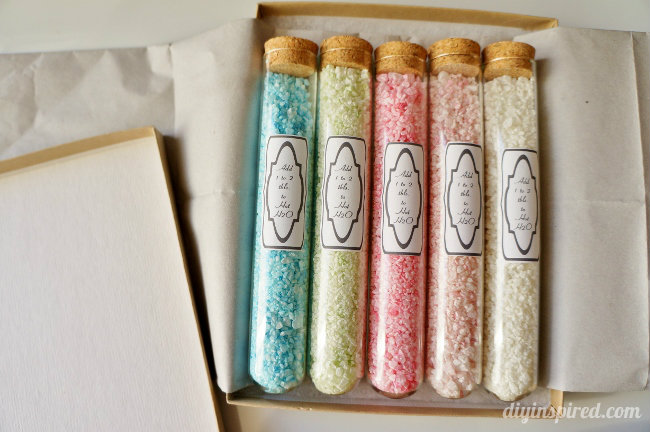 DIY bath and body gifts | homemade bath salts