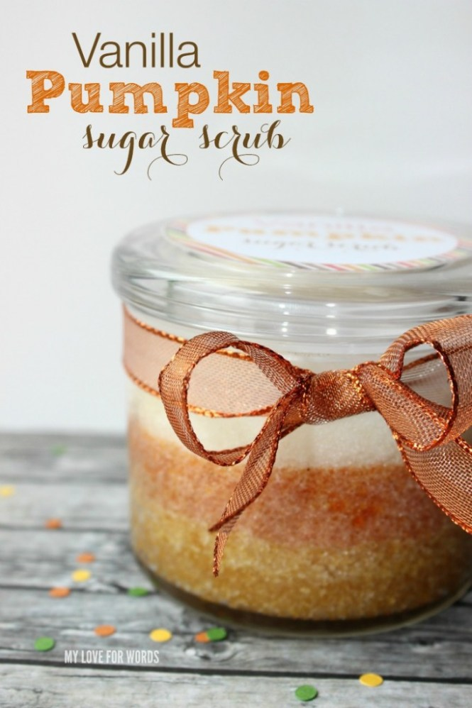 DIY bath and body products | vanilla pumpkin sugar scrub