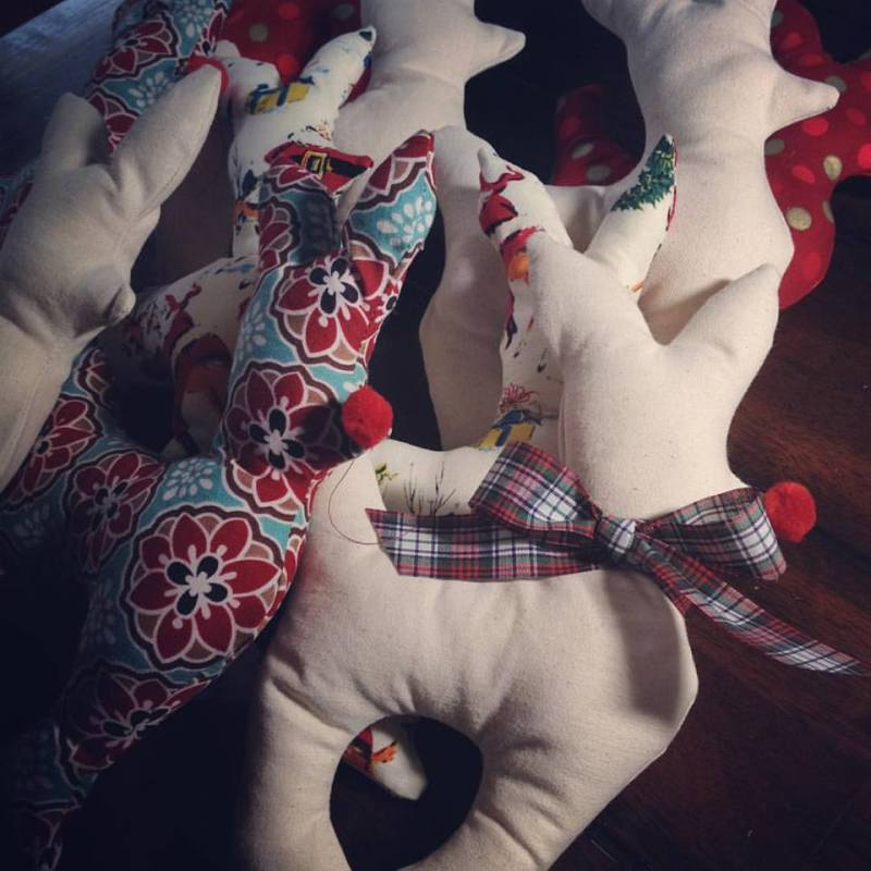Hudson Valley gift guide | Little Miss Moffitt's Creations stuffed reindeer