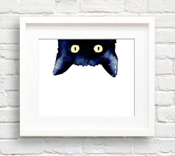 Whimsical Wall Art | Everyday Shenanigans sneaky black cat print