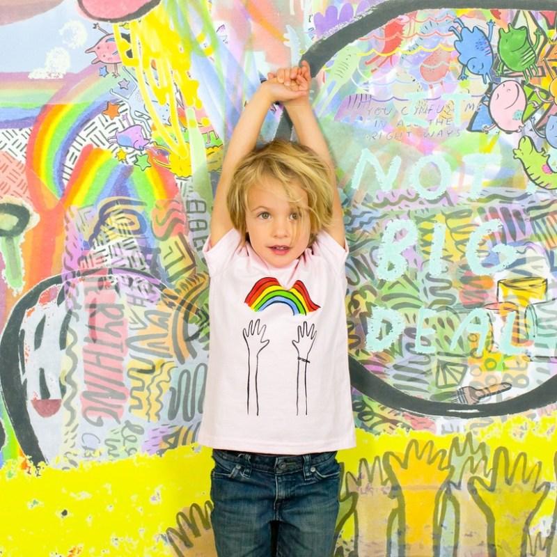 Dallas Clayton Reach Rainbows kids tshirt