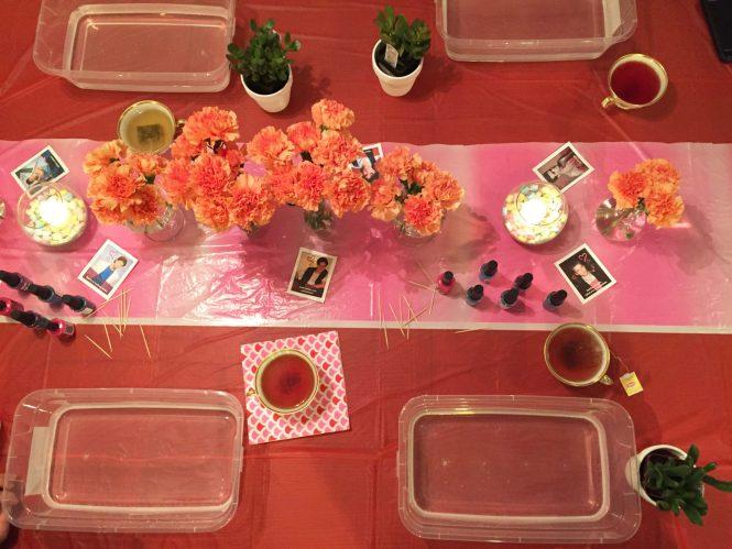 crafty tea party in progress