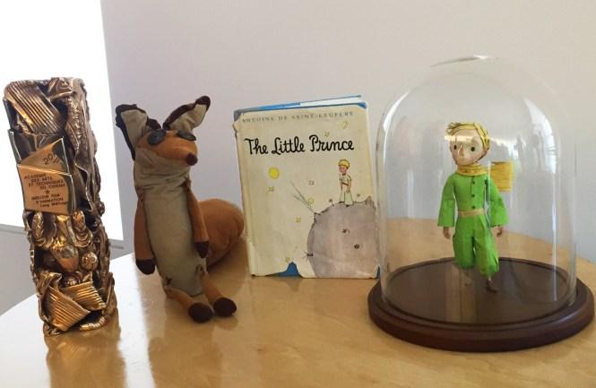props and Mark Osborne's Cesar award for The Little Prince