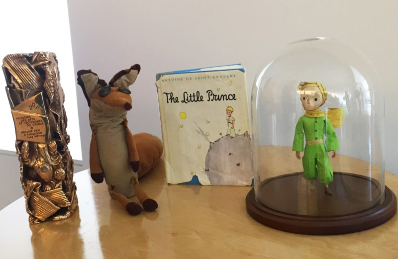 props and Mark Osborne's Cesar award for The Little Prince