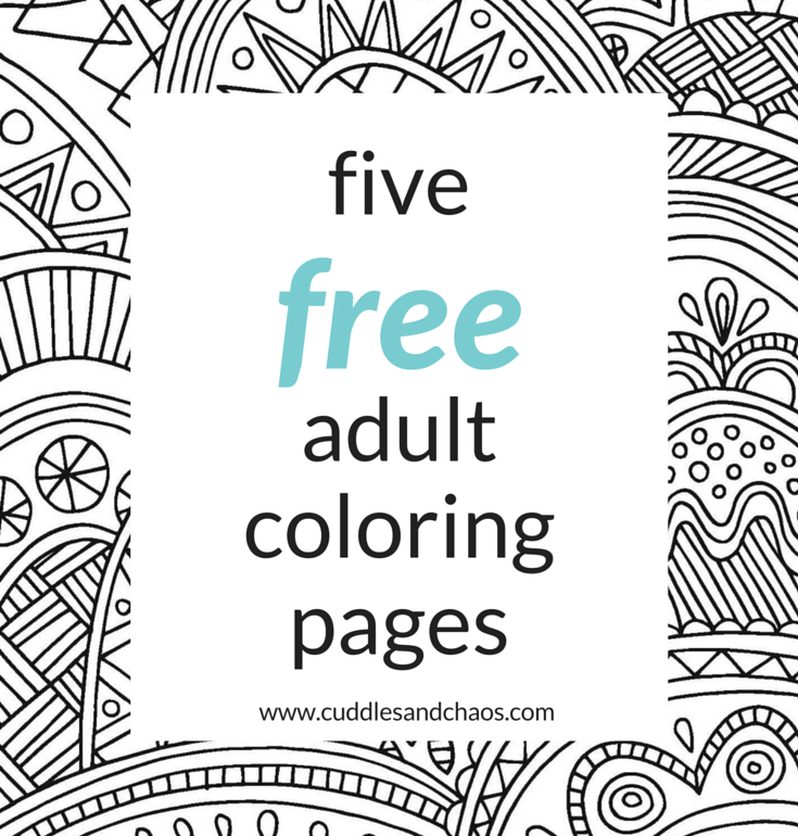 5 free adult coloring pages