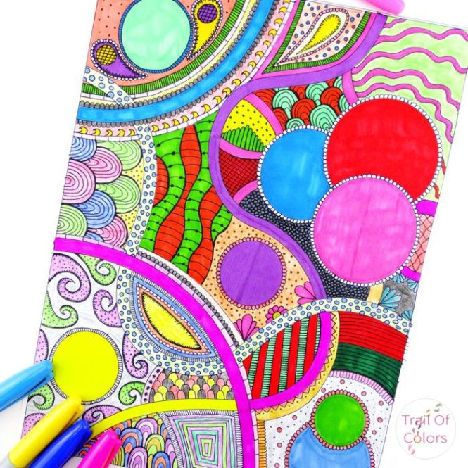 free adult coloring pages | abstract