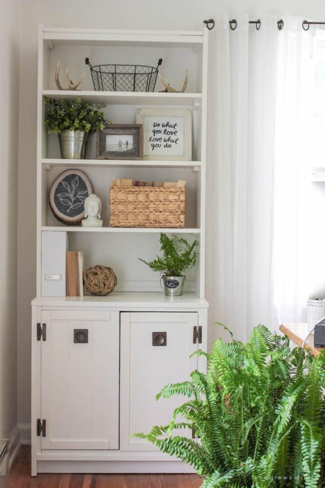 shelf decorating ideas via Love grows Wild