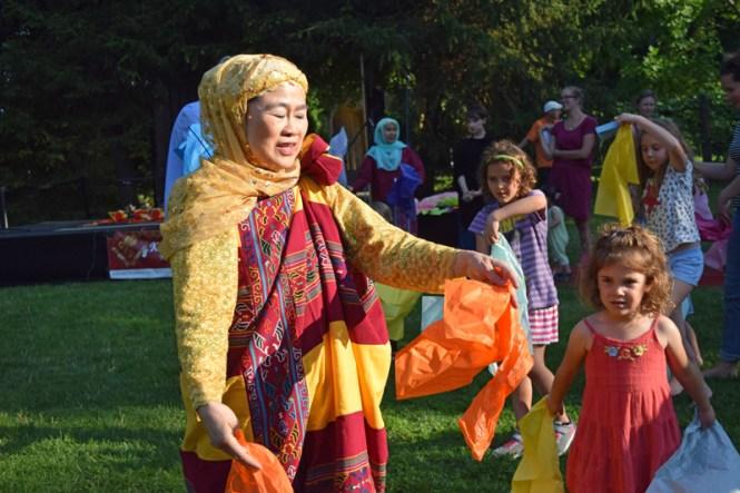 Filipino dancing at Caramoor