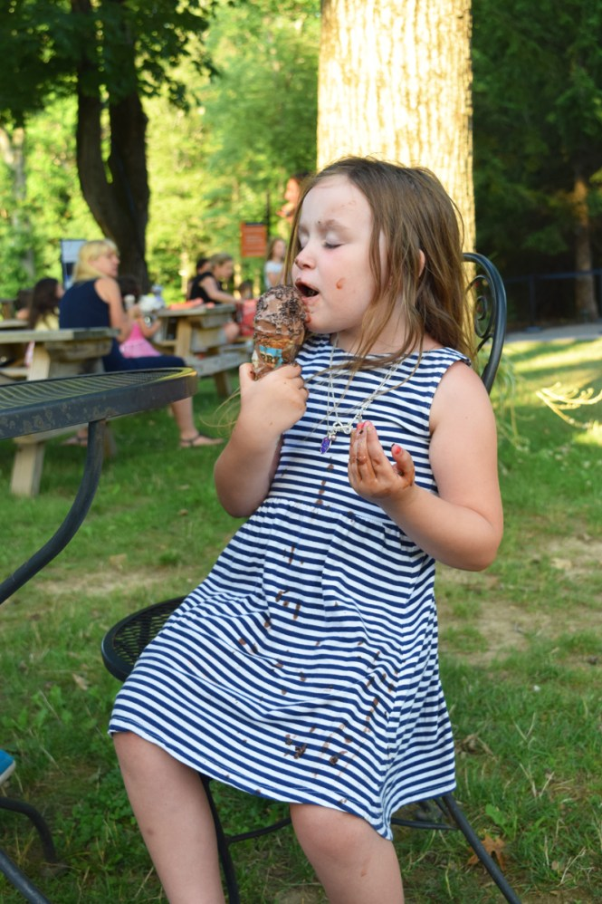 Westchester family fun ice cream after Dancing at Dusk at Caramoor