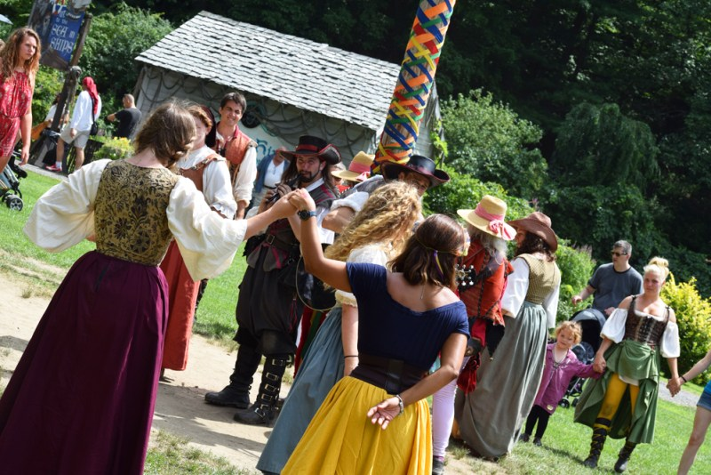 maypole dance at the Ren Faire in Tuxedo, NY