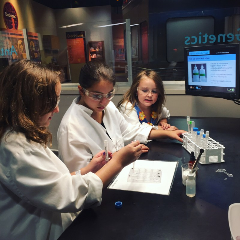 Liberty Science Center | Infection Connection experiment
