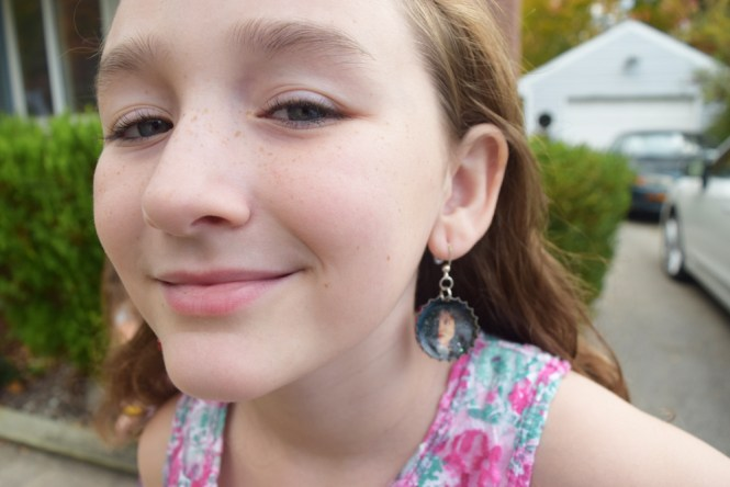school picture day rebellion: earrings close-up
